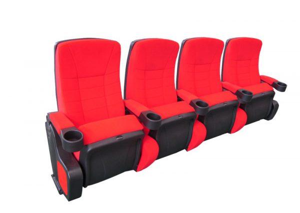 Cinehome de Luxe Rood 4 zits