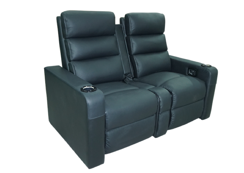Black Vulcan Twinseat Loveseat tip up