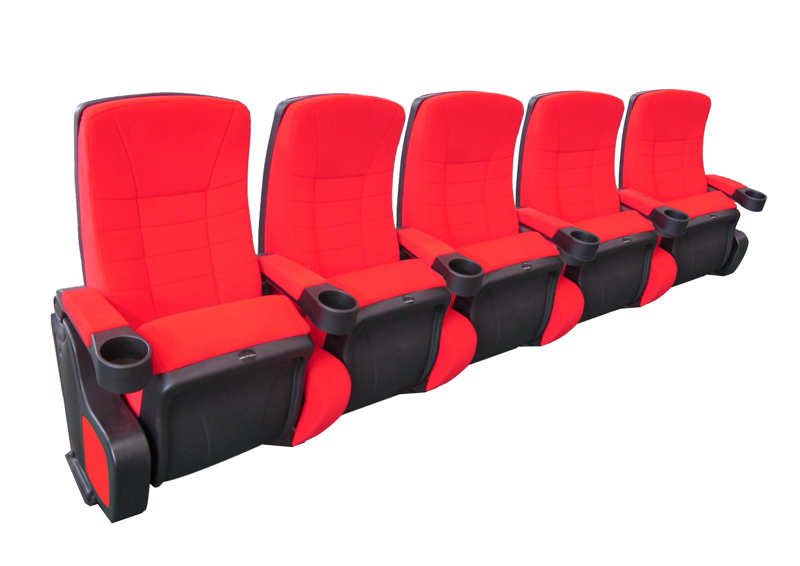 Cinehome de Luxe 5 zits opstelling bioscoopstoelen