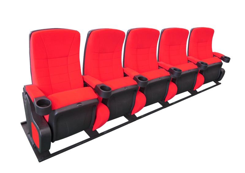 Cinehome de Luxe Rood 5 zits op frame