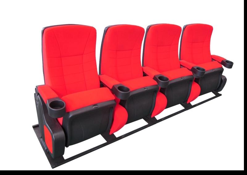 Cinehome de Luxe bioscoopstoelen 4 ziter op M-frame