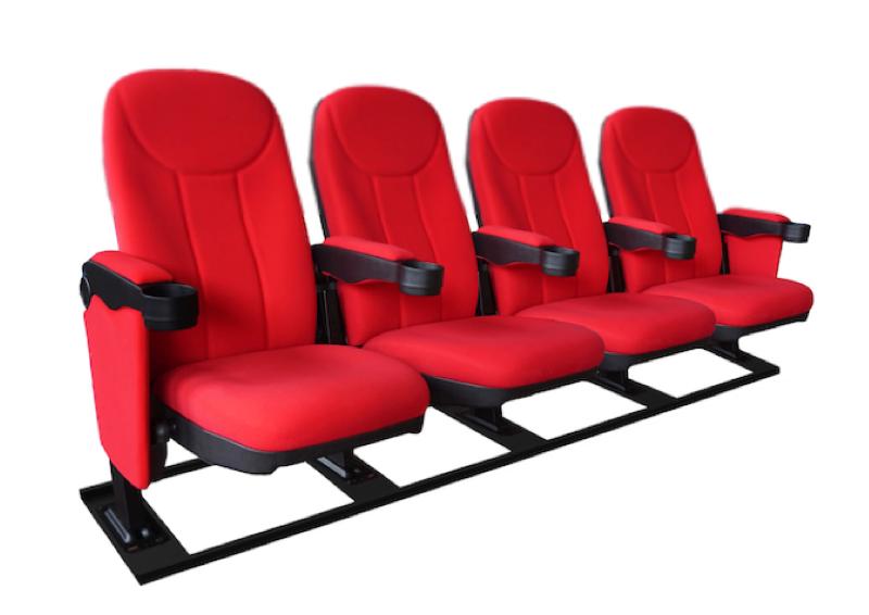 Cineseat F bioscoopstoelen 4 zitter op een M-frame