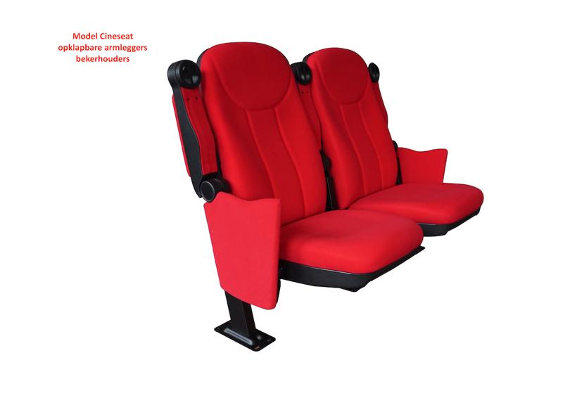 Cineseat F bioscoopstoel opklapbare armleggers en bekerhouders