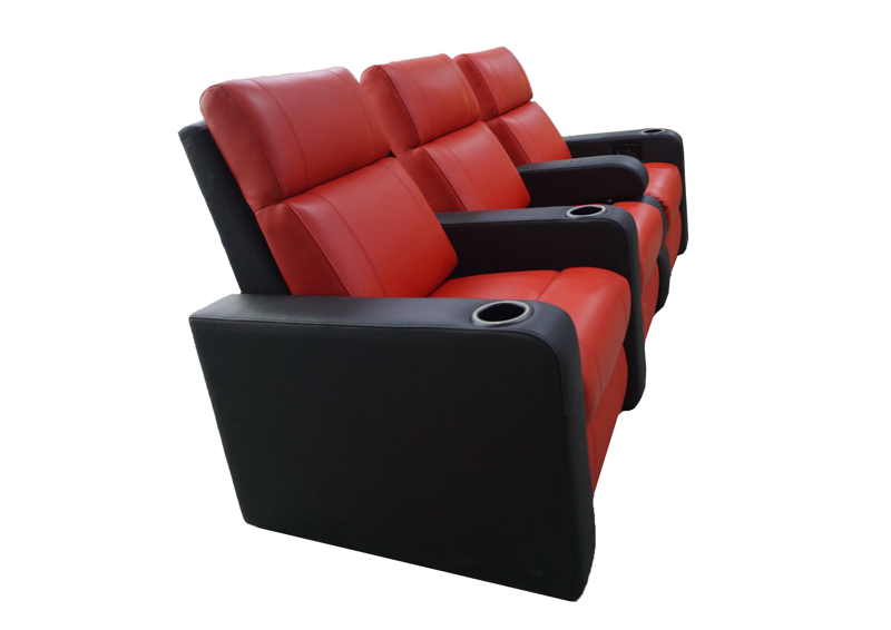 Black Vulcan driezits combi twin rood zwart