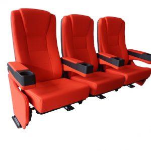 CineSlider luxe thuis bioscoopstoelen rij van 3 stoelen