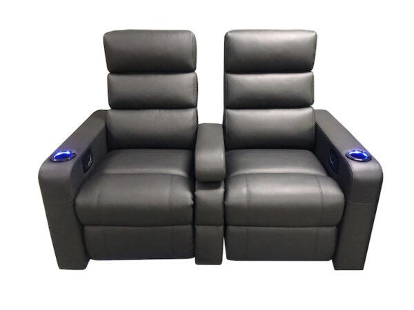 Black Vulcan twin vipseat recliner